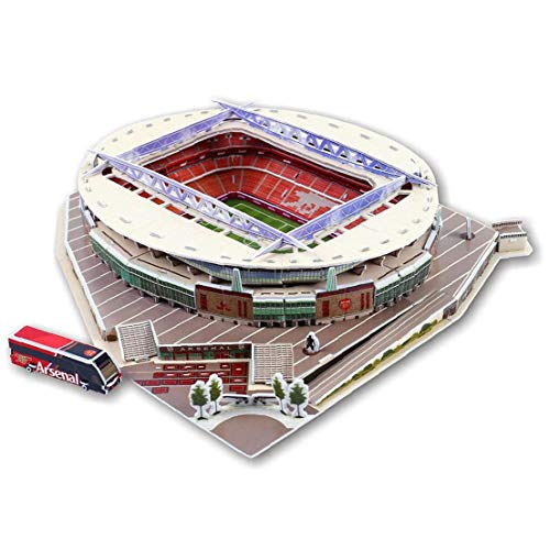 3D Puzzle Football FieldCraft Model Stadium Puzzle Assembly Toy Educational Toy Stereo Puzzle Toy Kit for Adults and Teens(C)1Set
