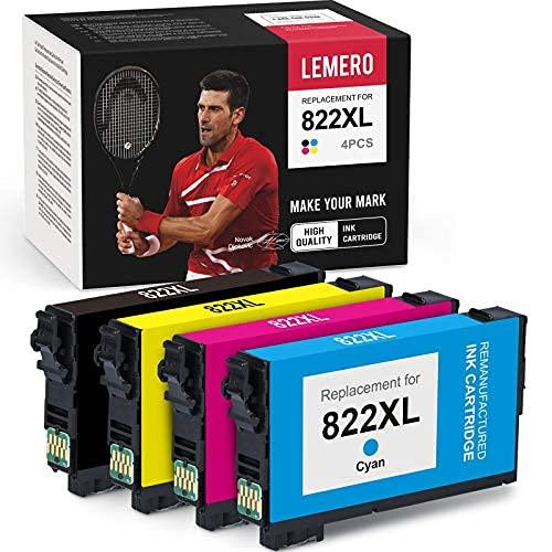 Reemplazo del cartucho de tinta remanufacturado para Epson T822XL 822XL 822 XL para usar con Workforce Pro WF-4830 WF-3820 ...