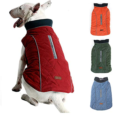 BALYLAS Dog Coats for x-Large Dogs Winter, French Bulldog Clothes for Dogs, Winter Jacket for Large Dogs, XL (X-Large, Red)