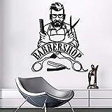 Tianpengyuanshuai Etiqueta de la Pared Barber Shop Logo Etiqueta de la Pared Etiqueta de Vinilo extraíble Barber Shop Decoration 76X63cm