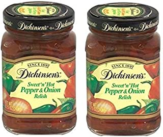Dickinson's Sweet 'n' Hot Pepper and Onion Relish 8.75 Ounces (2 Pack)