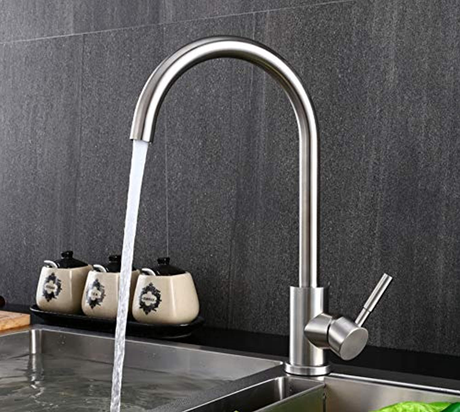 ROKTONG Faucet Stainless Steel Lead-Free Kitchen Faucet Hot And Cold Sink Sink Faucet