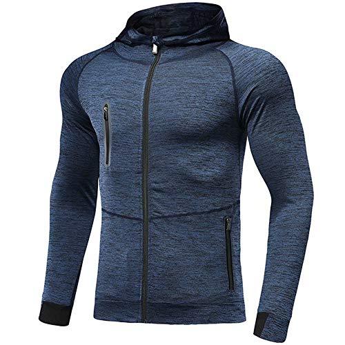 Męskie bluzy z kapturem zapinana na zamek kurtka do biegania z kapturem oddychająca bluza lekka bluza wygodna odzież na siłownię do joggingu treningu