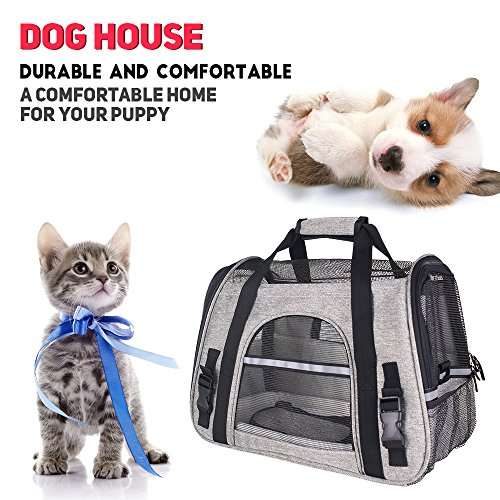 CFY Pet Travel Carriers Bag Soft-Sided Pet Portable Bag Airline Approved