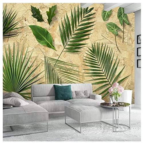 HF-LCZY Benutzerdefinierte Fototapete 3D Stereo Grünes Blatt Wandbilder Wohnzimmer Tv Schlafsofa Raum Dekoration Tapeten Für Wände Cool, 200x140cm | 2 Stripes
