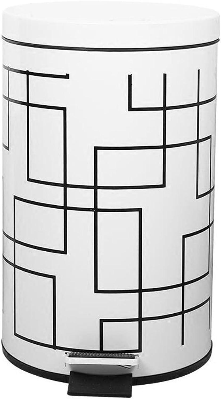 Home - Trash box ZWD Individualität Mülleimer, Haushalt Wohnzimmer Schlafzimmer Badezimmer Küche Große überdachte Fuß Typ Schritte Kreative Mülleimer 5-12L Sammlung (Größe   5L) B07FP1GRV8   Niedriger Preis