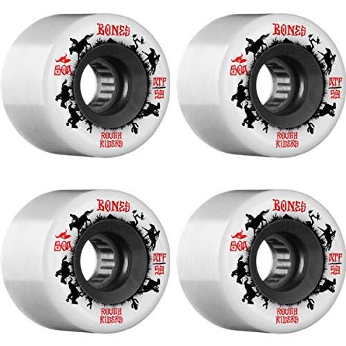 Bones Wheels ATF Rough Rider Wrangler White Skateboard Wheels - 59mm 80a (Set of 4)