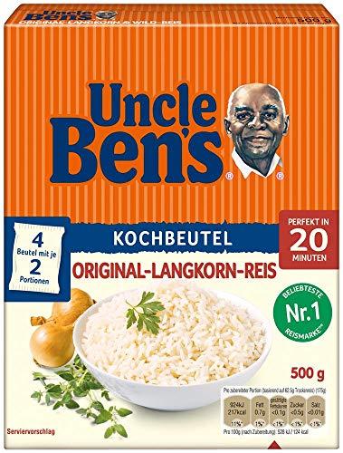 Uncle Ben's Original Langkorn Reis, 20 Minuten Kochbeutel, 9 Packungen (9 x 500g)