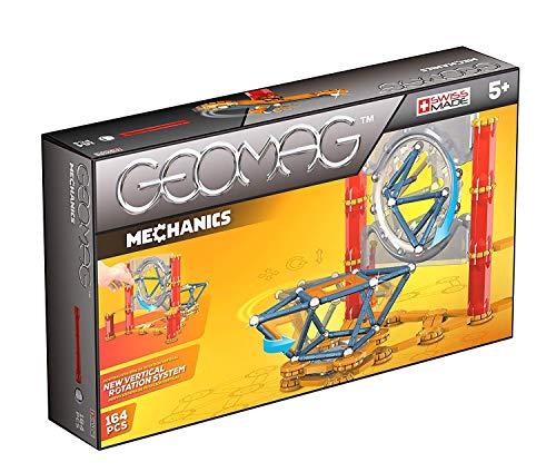 Geomag- Mechanics Construcciones magnéticas y juegos educativos, Multicolor, 164 Piezas (724) , color/modelo surtido