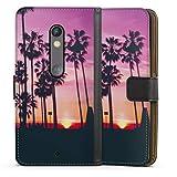 DeinDesign Étui Compatible avec Motorola Moto X Play Étui Folio Étui magnétique Palmier Coucher...