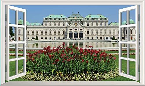 Chicbanners Belvedere Palace Vienna 3D V103 - Adhesivo decorativo para pared (1000 mm de ancho x 600 mm de profundidad)