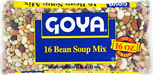 Goya, Soup Mix 16 Bean, 16 Ounce