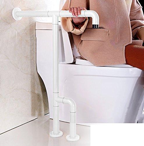 Accessible Main courante en nylon Ancien Handicap Handrail Salle de bains Toilette Baignoire Basin Sécurité Accoudoir (Couleur : Blanc)