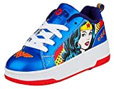 Heelys Pop Shoes Bash Wonderwoman, Baskets Fille, Bleu Blue/Red, 34 EU