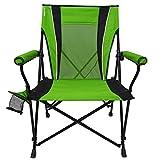 Kijaro Dual Lock Hard Arm Portable Camping and Sports Chair, Ireland Green