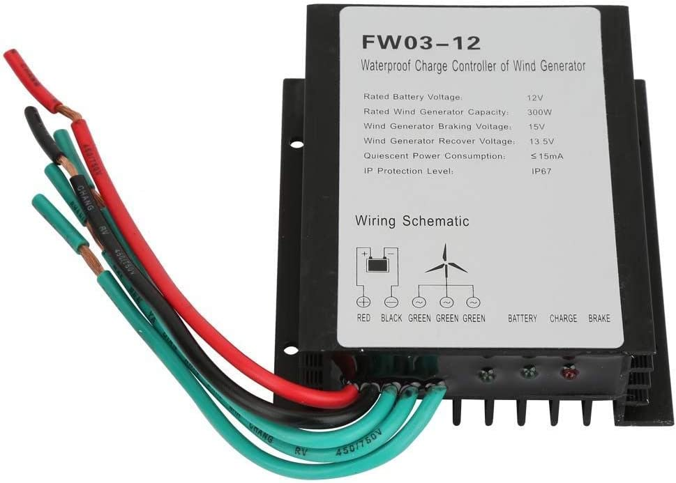 PAJKWW WCY OFFicial mail order Wind Charge Controller 12V IP67 FW03-12 Superlatite W Waterproof