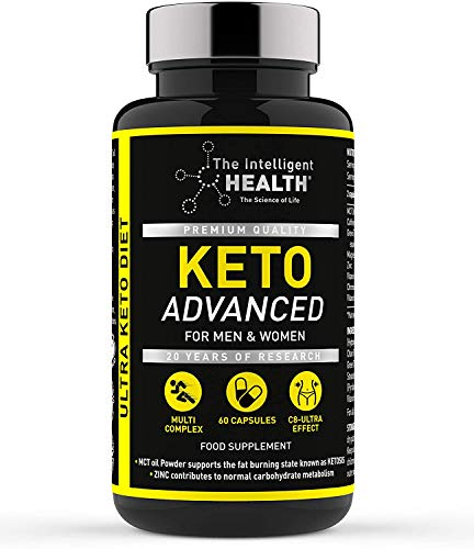 The Intelligent Health Keto Diet Pills for Men & Women | 60 Capsules | Advanced Keto Weight Loss Pills with MCT Oil | Slimming Food Supplement