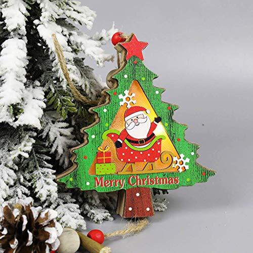 Xiongz Decoraciones navideñas Bolas de Navidad Árbol de Navidad Linterna colgante LED luminosa decoración creativa linterna portátil (color: A)