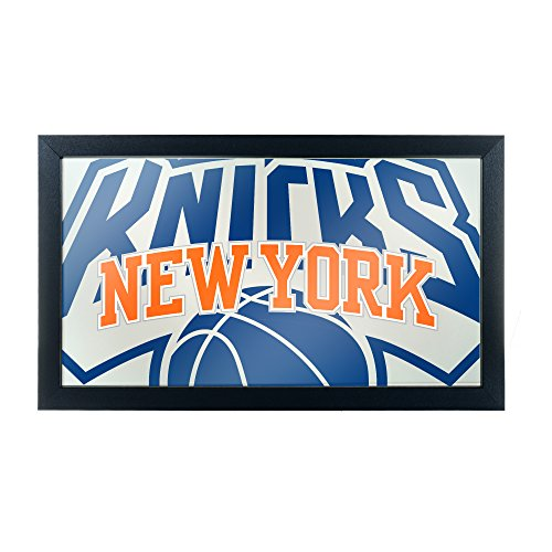 Trademark Gameroom NBA1500-NY2 NBA Framed Logo Mirror - Fade - New York Knicks image