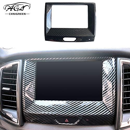 AGL Carbon Fiber Color Car Dashboard GPS Navigation Panel Frame Cover Trim Decoration Car Accessories Interior Decorative for Ford Ranger T6 T7 T8 2015 2016 2017 2018 2019 2020