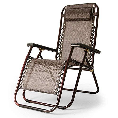 Home Outdoor/Schwerelosigkeit Stuhl Liege Verstellbarer Klappgarten Außenterrasse Sonnenstuhl Liege Fauler Sonnenstuhl Strandkorb Büro Mittagspause Stuhl Nap Chaise Longue Lightweig