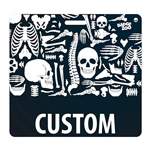 Custom Double Sided Horizontal Badge Buddy with 20 Background Options X-Ray Theme