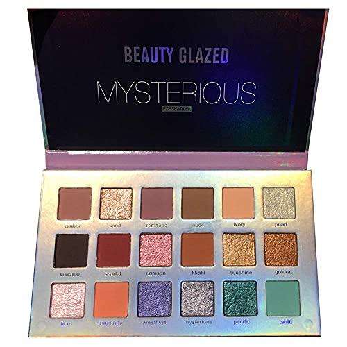 Beauty Glazed 18 colori luccicanti opachi pigmento luccica trucco lucentezza diamante ombretto tavolozza trucco fumo nudo lucido lucentezza duratura ombretto cosmetici