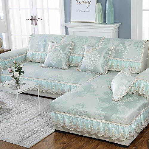eaodz Plush Protective Cover Sofa Stretch Sofa Throw Sofa Cover Soft Thick Sofa Cover for Fabric: Rattan 90 * 90+15Cm Lace