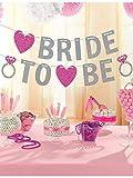 Amscan, Glitzer-Banner, Text: BRIDE TO BE, für Junggesellinnenabschied, 3,65 m
