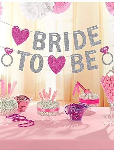 Amscan, glitterbanner, tekst: BRIDE TO BE, voor vrijgezellenfeest, 3,65 m