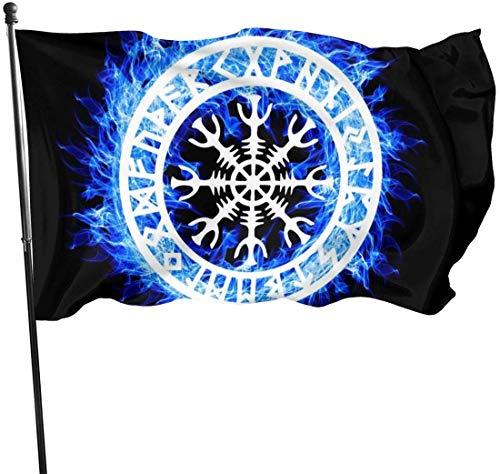 Jeewly 50. Jahrestag Mondlandung dekorative Gartenflaggen, Gartenhofdekorationen 3x5 Ft