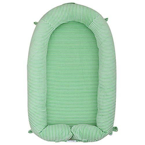Yeying123 Cama En La Cama Portátil Bebé Juego Cama Sleepy Bionic Cama De Dibujos Animado Cuna Cama,Green