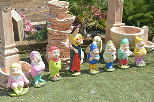 Statua Biancaneve ed i 7 nani Colorati - Vivaio Santabernadetta