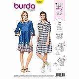 Burda 6401 Schnittmuster Kleid (Damen, Gr. 34 44) Level 1 super Easy