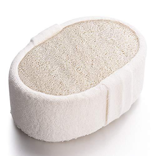 Peeling-Schwamm, dicke Luffa, natürlicher Luffa-Badeschwamm für Herren und Damen, härtere Haut, ultradick (14,5 x 9,9 x 5 cm), ideal für Peeling-Dusche, Duschschwamm