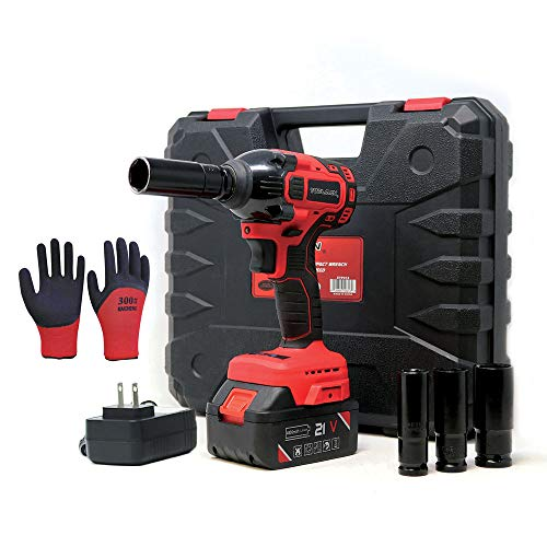 Toolman Rechargeable Lithium-ion cordless Power Impact Wrench kit 1/2