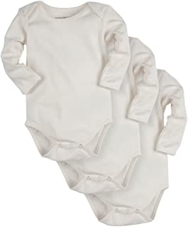 988a9a9eae PACT Baby 3-Pack 100% Organic Cotton Long Sleeve Bodysuit