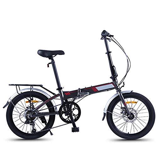 FDSAG Unisex Falt Fahrrad 20 Zoll 7 Gang Freilauf Kettenschaltung Tragen Und Langlebig Reibungslose Anstrengung Verstärkter Rahmen Aus Aluminiumlegierung