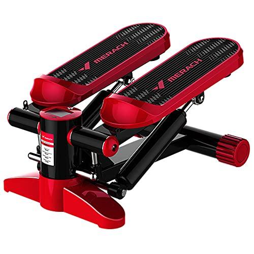 LJFZDB Mini Stepper Paso a Paso de Ejercicio aeróbico con Pantalla Absorción de Impactos y Mudo Ejercicio en casa Brazos piernas Entrenamiento de Cuerpo Completo(Color:Rojo)