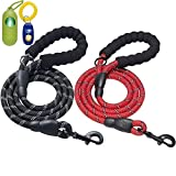 ladoogo 2 Pack 5 FT Heavy Duty Dog Leash with...
