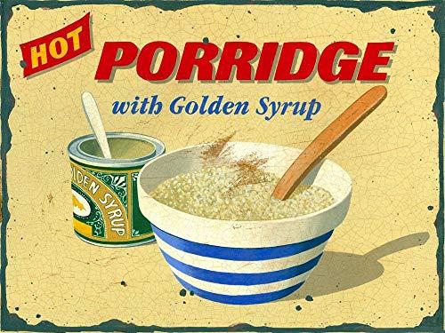 TSHOME Hot Porridge With Golden Syrup Targa in metallo con metallo retrò vintage in alluminio per...