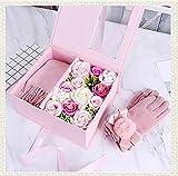 Geschenkset mit Seifenblume, Geschenk zum Geburtstag, Freundin, mit Handschuhen für Halstuch