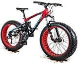AYHa 27 bicicletas de montaña para adultos, velocidad de 26 pulgadas de doble suspensión bicicletas de montaña, aceite del freno de disco antideslizantes, para mujer para hombre Overdrive Fat Tire bi