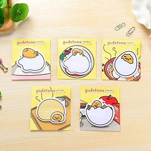 4X Cute Kawaii Gudetama Lazy Egg Self-Adhesive Memo Pads Sticky Notes Decorative Bookmark School Office Supply