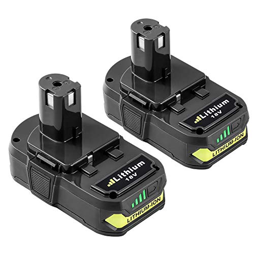 2 Pack 3000mAh P102 Replacement Battery for Ryobi 18V Lithium Battery, Compatible with P103 P104 P105 P107 P108 P109 for Ryobi 18 Volt ONE+ Plus Power Tool Batteries