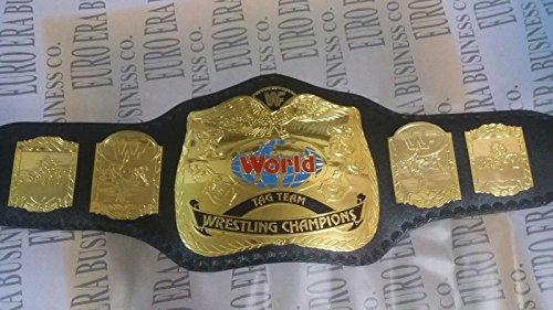 Wrestling Gürtel Replik New WWF Tag Team Championship Gürtel, Erwachsenengröße & Metallplatten