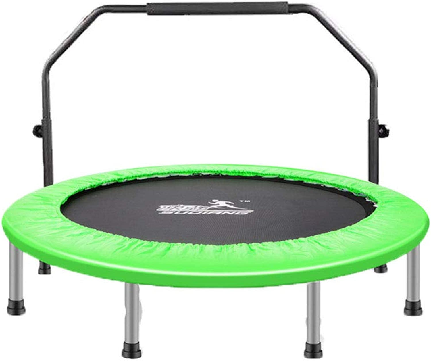 Mesurn Indoor Fitness Trampoline, High LoadBearing Elastic Jump Cloth, Rounded Triangle Ring, Easy to Carry and Easy to Carry, Family Aerobics Trampoline