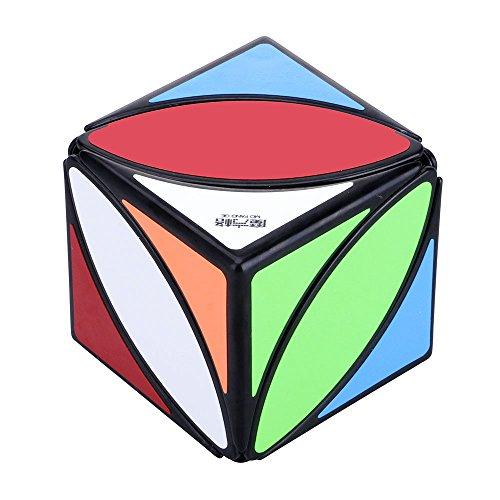 Cubo Mágico de Hojas de arce Speed Cubes Twist Puzzle Inteligencia Juguetes para Adultos Niños   Negro