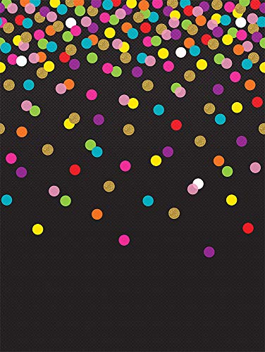 Teacher Created Resources Colorful Confetti on Black Better Than Paper Bulletin Board Roll (TCR77037) Photo #2