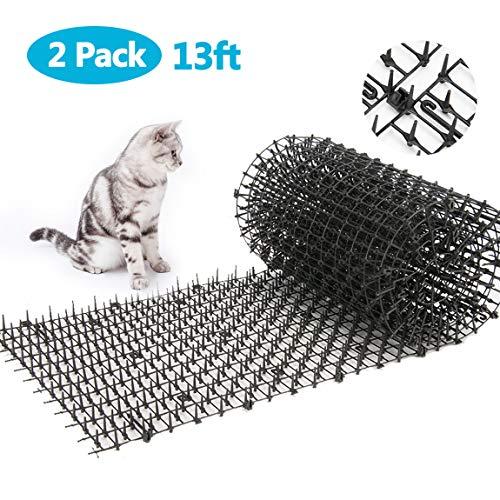13ft Garden Cat Scat Spike Mat, Anti-Cats Network Digging Stopper Prickle Strip Home Spike Deterrent Mat (6.5ft2PCS)